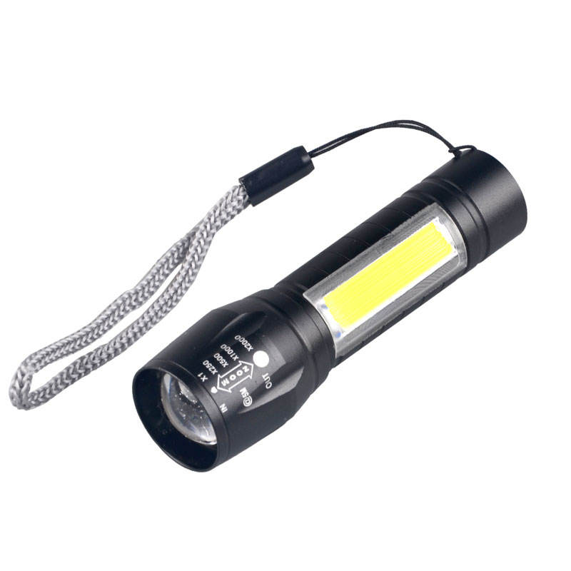 3W LED COB Led Micro Mini recargable Led linterna USB antorcha Zoomable linterna Led
