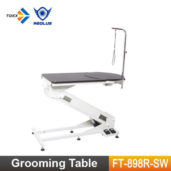 FT-898R-SW 2016 New Products Electric Lifting Dog Grooming Table Pet Show Table with Round Rotational Top