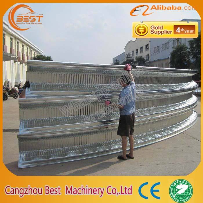 Standard LS914-610 china made super arch steel building roof curving machine