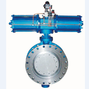 ASME, JIS, DIN GB GOST Metal Seal Flanged butterfly valve with pneumatic hydraulic drivingstainless steel