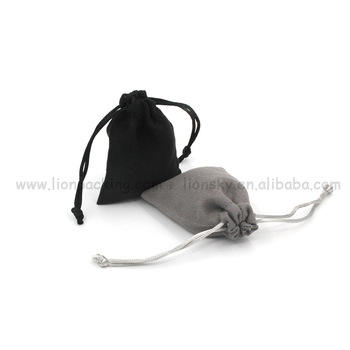 Drawstring Microfiber Suede Pouch For Jewelry Packing