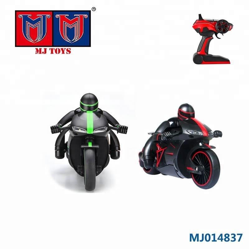 3+ kids battery charger toy 2.4g rc stunt motorcycle for playing