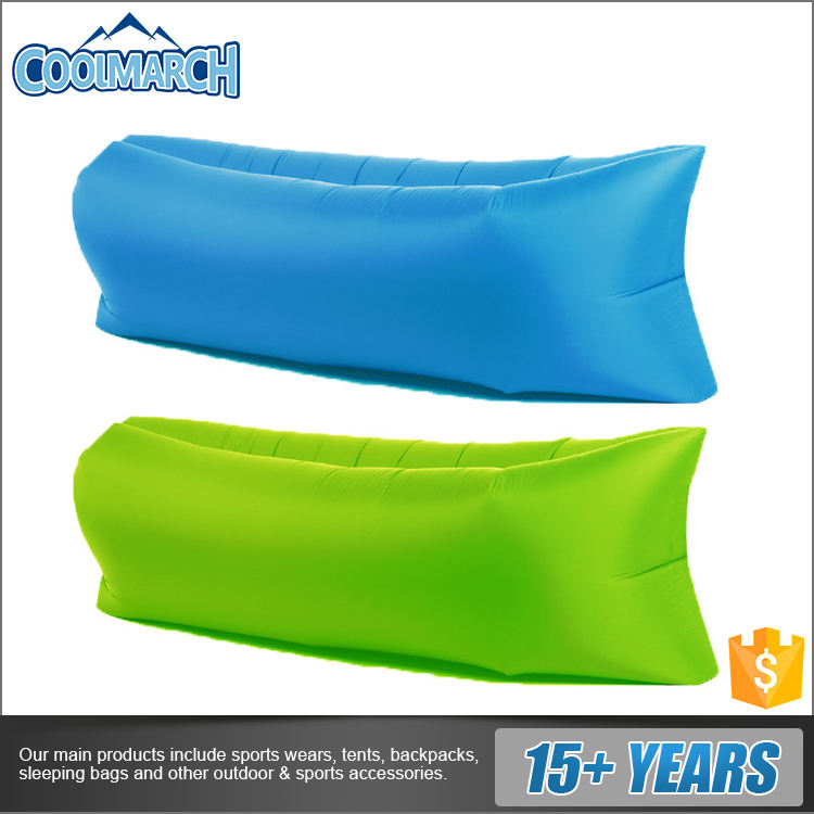Factory hot selling portable folding outdoor inflatable sofa new shape air bag pouch couch