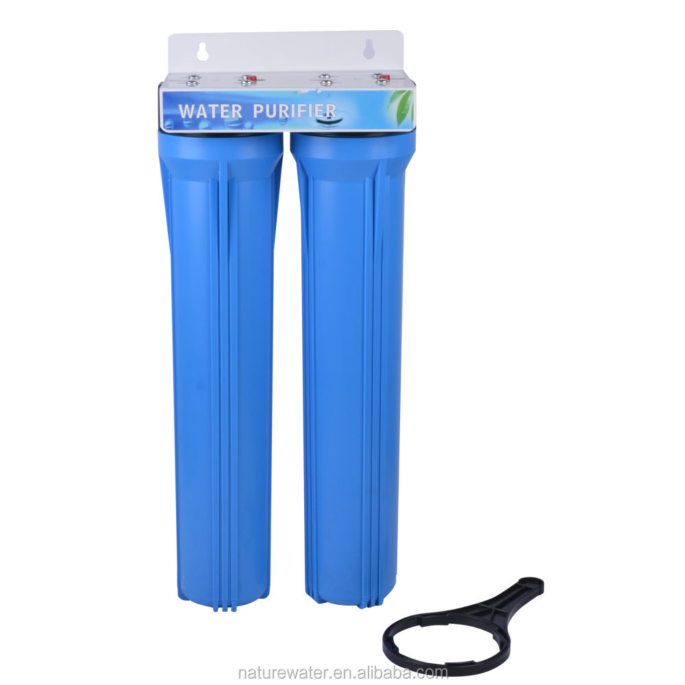 2 stages 20'' big blue housing under sink pre-filtration RO water purifier system