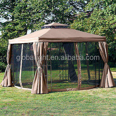 Home Garden Patio Furniture Weather-Resistant Gazebo with Mosquito Net