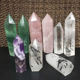 A lot natural amethyst rose quartz stones obelisk crystal wand point natural crystal semi-precious healing stones for gifts