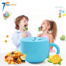 soft Baby Cereal Dispenser no spill Food Snack Storage Container silicone snack cup