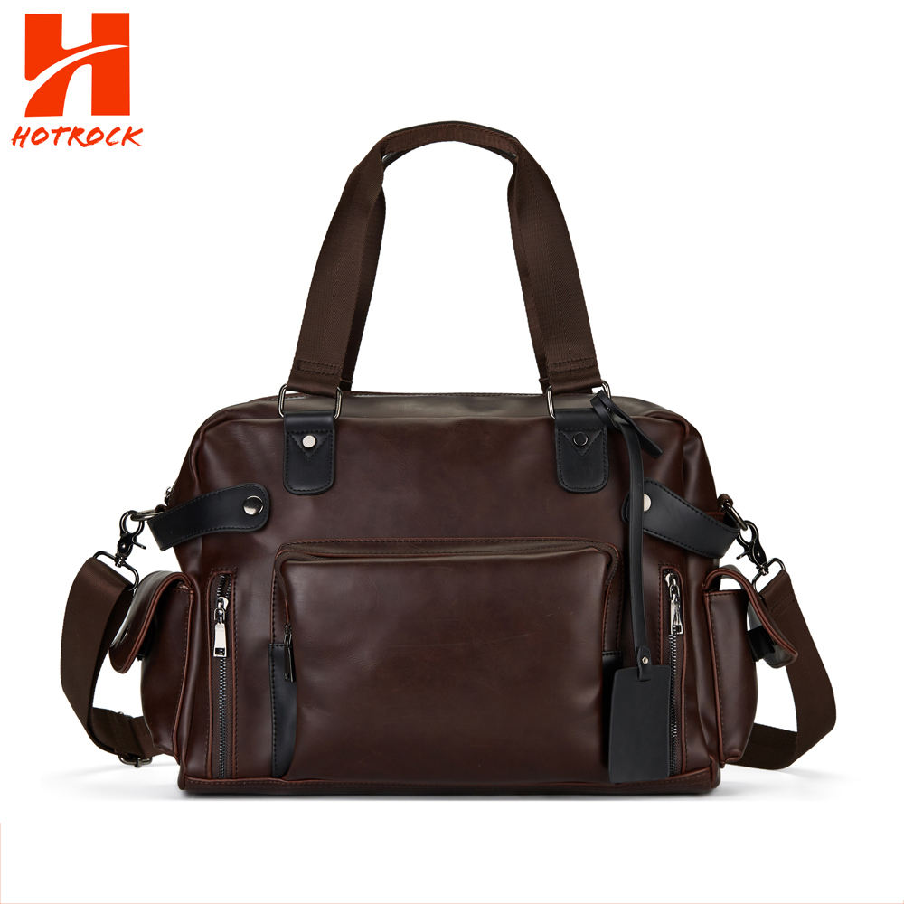 Hotrock Men's Handbags PU Leather Messenger Bags