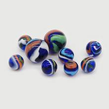 Toy Glass Ball and Decoration Round Twisted Glass Marble