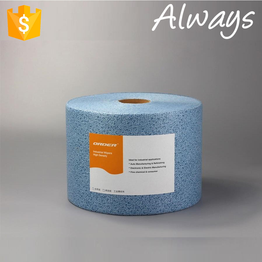 100% Polypropylene Paper Cloth 2018 Blue Oil Absorbent Perforated Composite Nonwoven Meltblown Polypropylene Cleaning Paper Cloth