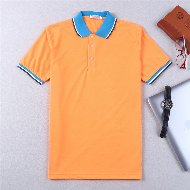 guangzhou factory wholesale blank design golf CVC cotton collar and sleeves color combination cute couple men polo shirt