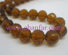 Fashion nice faceted hot round lead free crystal glass beads for jewelry making and rosary beads wholesale