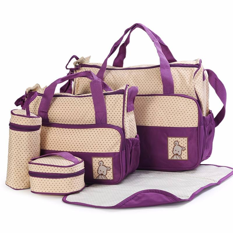 baby bags set mummy baby diaper bag diaper bag 5 in 1 set