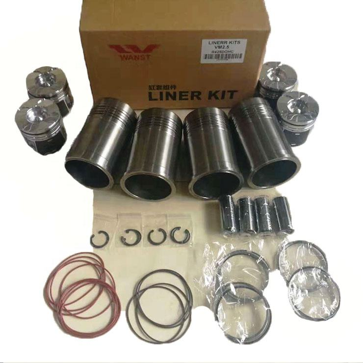 Factory price high quality engine parts VM R425 VM R428 2.5 2.8 cylinder liner sleeve kits with piston piston ring complete