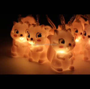 2020 Hot Sales Animal Serie 10Led Pvc Eekhoorn Vormige String Lights Battery Operated Voor Home Decoratie