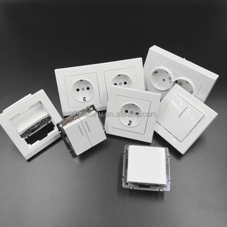 factory OEM white European standard German Electrical Equipment Wall Switches for light
