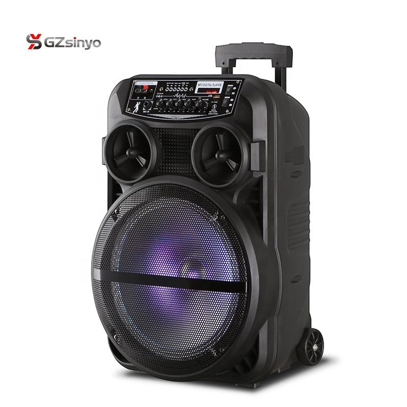12 inch portable battery powered bluetooth pa speaker