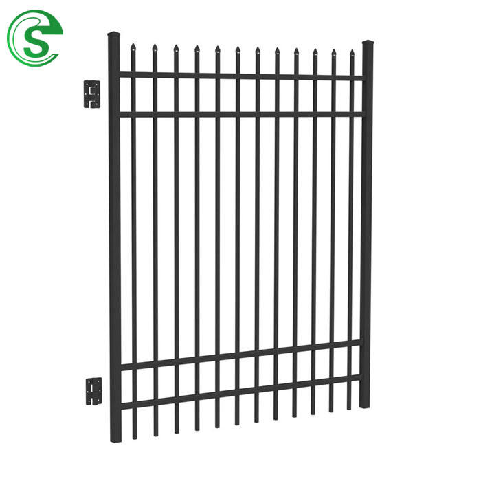 Hot sale aluminium fence spear top panel for swimming pool and garden tubular fence gate