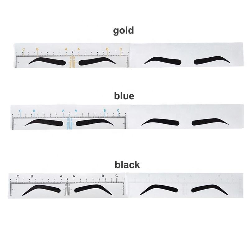 Tattoo Supplies Wholesale New Developing 3 Kinds Microblading Eyebrow Ruler Disposable Eyebrow Ruler Sticker With Eyebrow Shape
