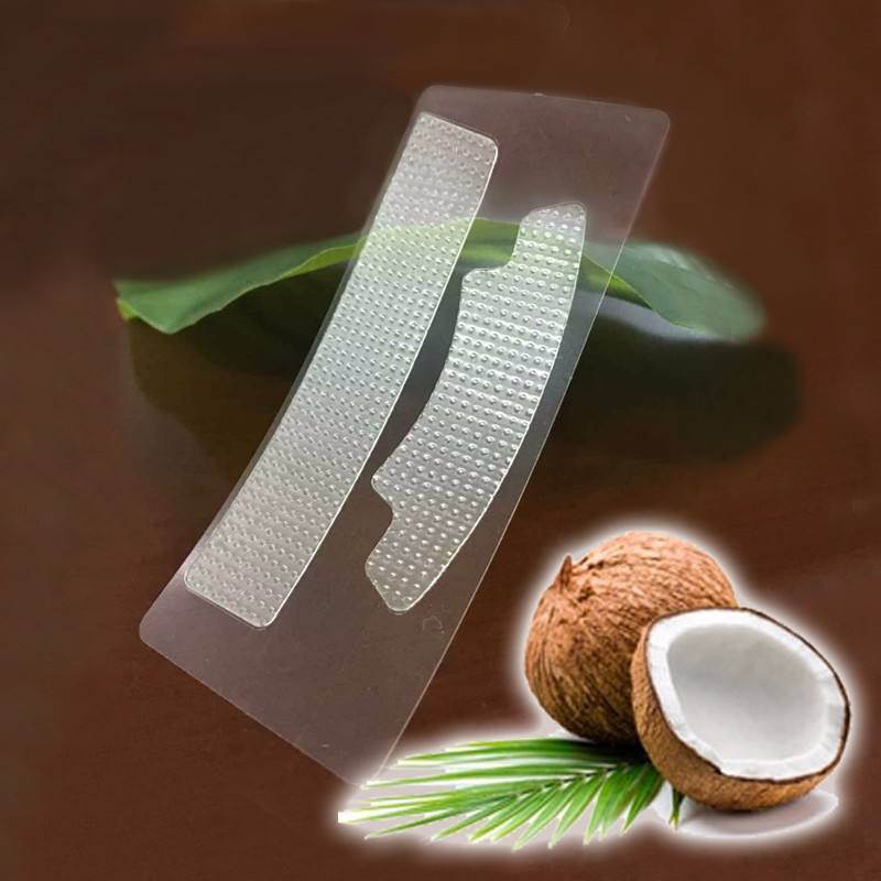 Food grade coconut oil teeth whitening gel strips, excellent effect no slip