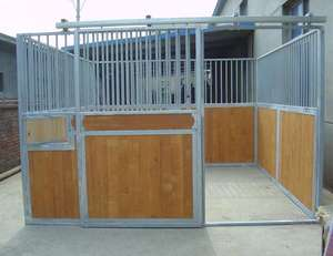 standard horse stable panel with sliding door