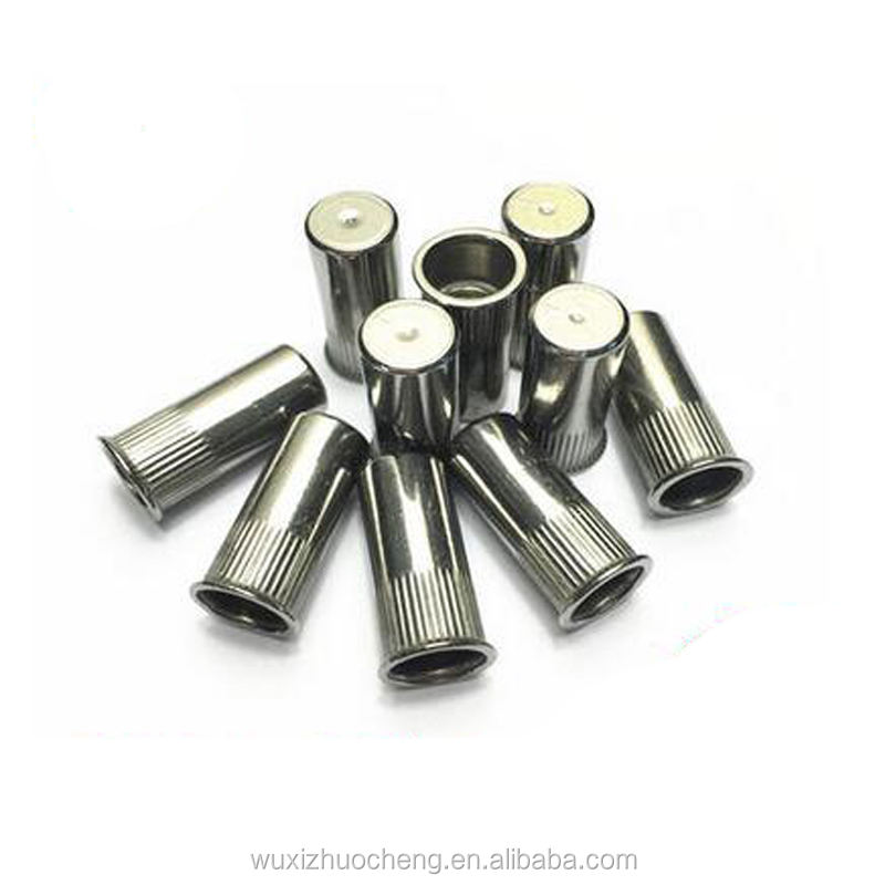M6 stainless steel 304 316 knurled body countersunk head blind rivet nut with ISO certification