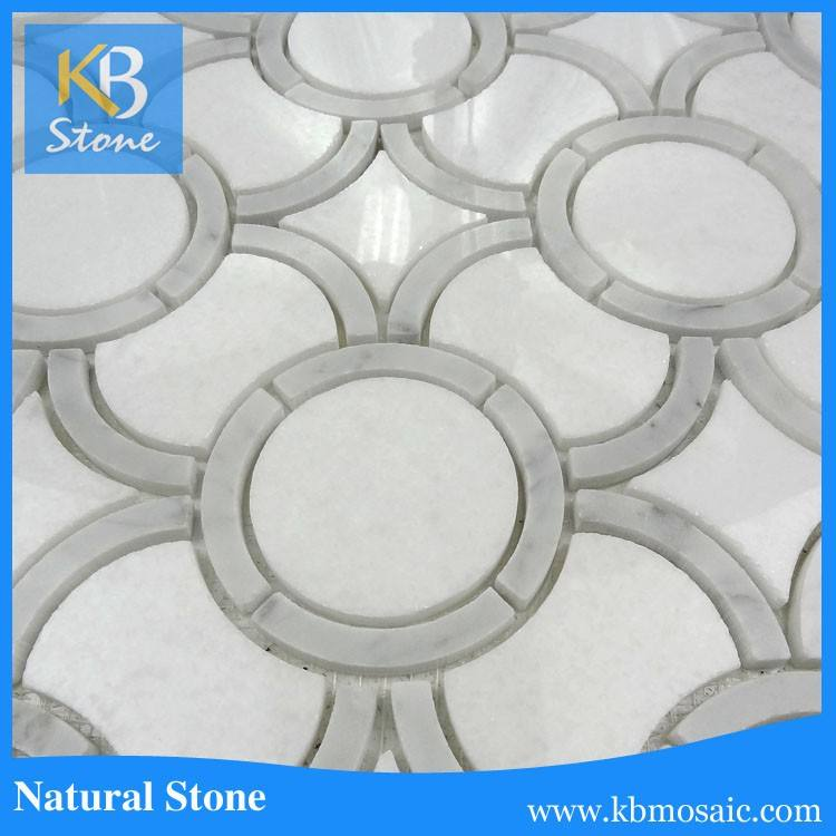 Polished cheap white marbles high quality natural stone wall tile