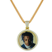 Miss Jewelry Hip Hop Custom 18k Gold CZ Diamond Paved 3D Photo Picture Frame Pendant
