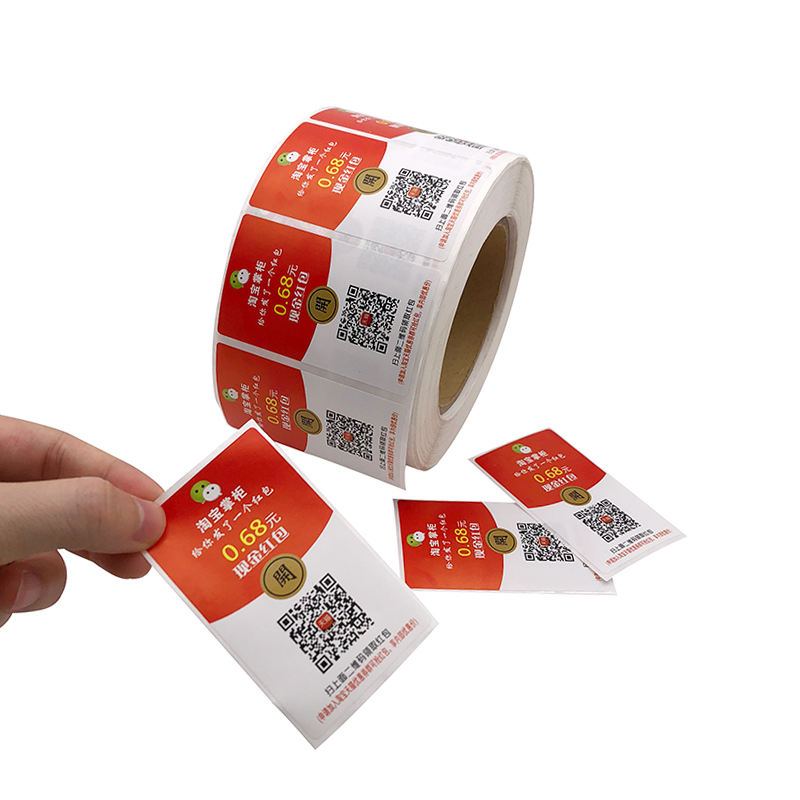 Wholesale Self Adhesive QR Code Scratch-Off Paper Roll Sticker Customizable Random,Serial Number Barcode Label Sticker Printed