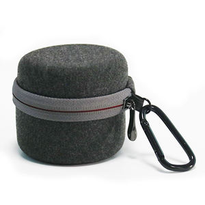 Mini Round Design EVA Storage Case Round Speaker Zip Case