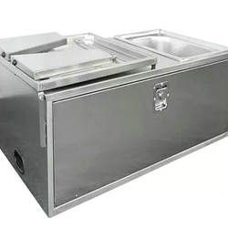 Outdoor stainless steel camper trailer kitchen for camping