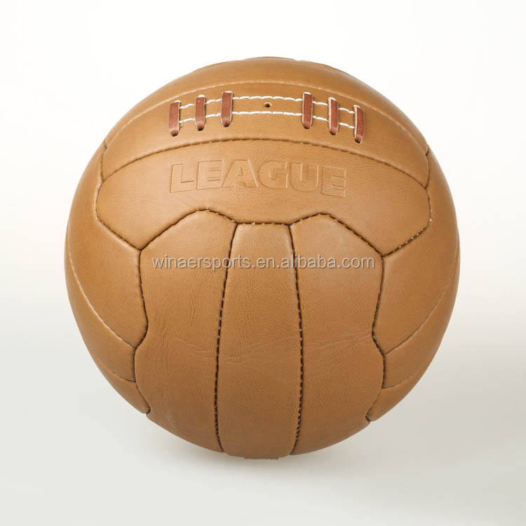 공식 size 및 weight 손 stitch real leather retro 축구 볼 football 볼 대 한 training 나 games