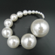 CoolWin full drilled AAA grade faux 40mm large ABS imitation pearls for jewerly