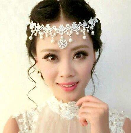 Wholesale bridal hair accessories ladies accessories 2017 forehead chain boho head chains