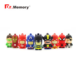 MARVEL's The Avengers Captain America/IRONMAN/Superman/Batman/Spider Man/pendrive USB 2.0 แฟลชไดรฟ์