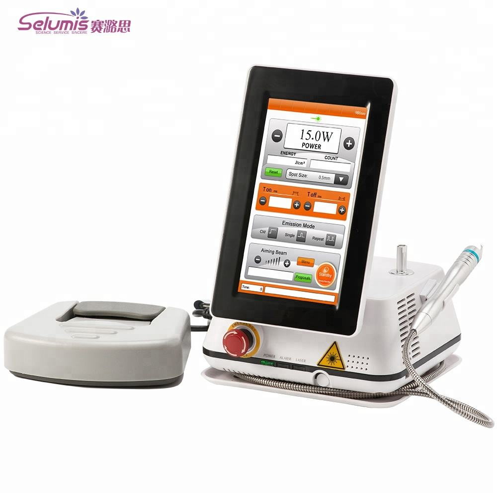 Portable Spider Vein removal machine / Vascular Removal 980nm medical diode laser 980 nm machine