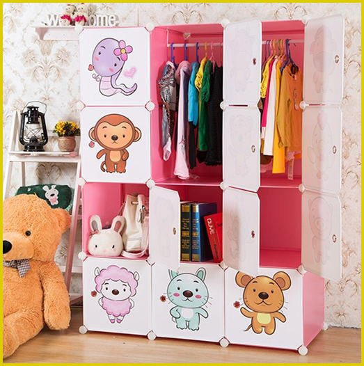 Bedroom Furniture double color design almirch baby storage cupboard wardrobe