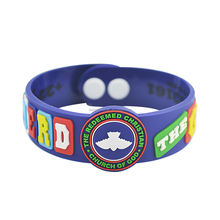The bible bracelets PVC church wristbands
