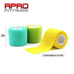 Non-woven Therapy Self Adherent Cohesive Wrap Support Elastic Muscle Sports Tapes