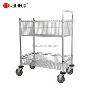 for Warehouses Garages Small Hand Lifting Machinery 2323.515.5Cm Yellow Stainless Steel Adjustable Push Trolley Push Trolley