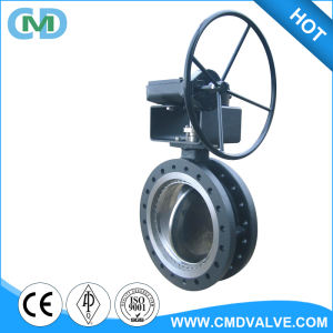 ANSI A216 WCB PN40 dn500 Worm Gear Triple Offset Butterfly Valve for LPG