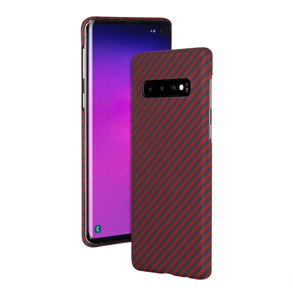 จริง Aramid Fiber Case Matte Finish สำหรับ Samsung S10 plus