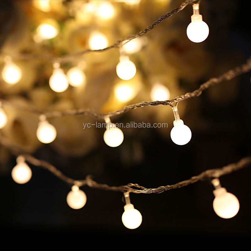 10m outdoor waterproof garland decorative led ball with elastic string light