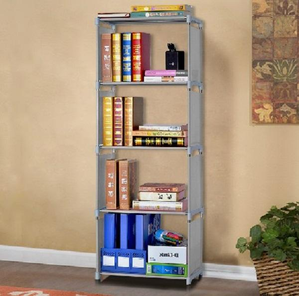 Modern portable book rack new material bookcase bedroom book display rack