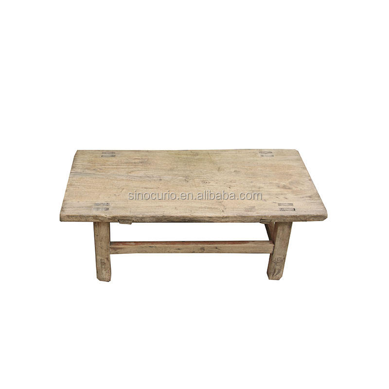antique chinese old elm wood tea table natural color strong rustic coffee table