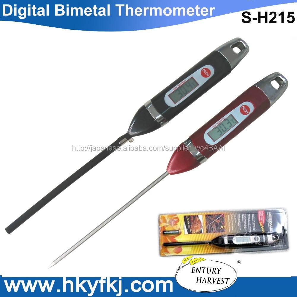 多機能デジタルlcdディスプレイバイメタル温度計熱電対