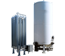 20000 liter Liquid oxygen cryogenic storage tank for hospital use