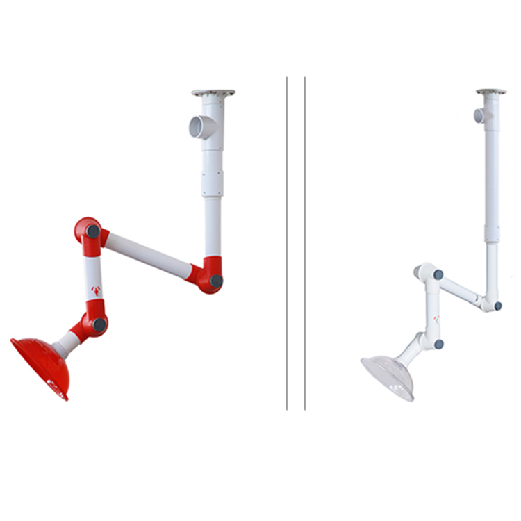 Laboratory fume PP extraction suction arm with dome hood flexible