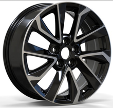 black machine multi spoke car alloy 17/18 inch auto wheels rims
