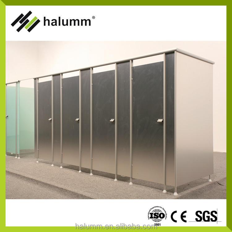 Nuevos productos en el mercado de fuego cristal partitionformica sólido fenólico particiones aseo, partición inodoro de acero